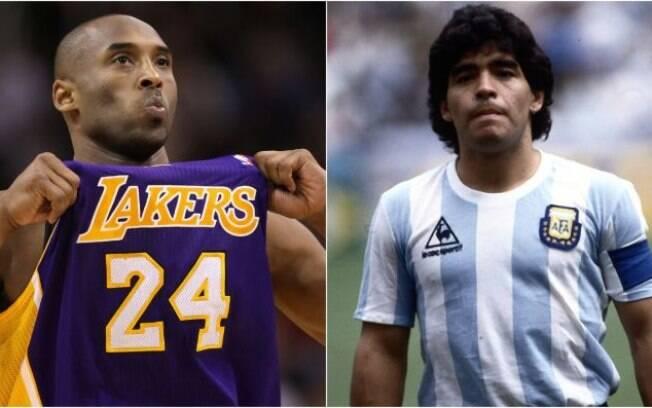 Mortes de Kobe Bryant e Maradona chocaram o mundo em 2020