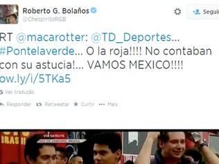 Ator utilizou sua conta no Twitter para comemorar vitória da seleção mexicana