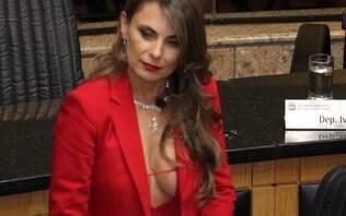 Deputada Paulinha entrará na Justiça contra comentários violentos sobre decote