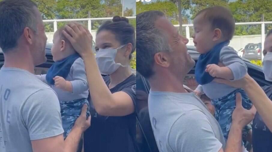 Filho de Malvino Salvador e Kyra Gracie tem alta hospitalar