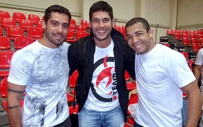 Yuri com Dudu Azevedo e José Aldo