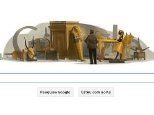 Logotipo do Google faz referência ao maior feito de Carter como arqueólogo