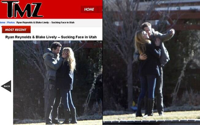 Ryan Reynolds e Blake Lively: flagra!