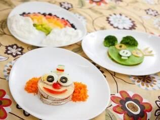 Comida divertida para crianças