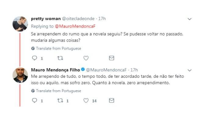 Mauro Mendonça Filho responde seguidores sobre a novela