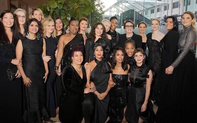 Logo após seu surgimento, o Time's Up movimentou Hollywood: no Globo de Ouro, artistas usaram preto em apoio a organização