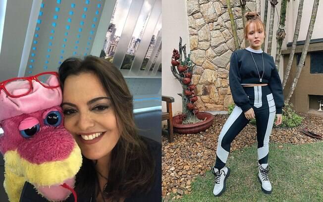 Fabíola Reipert e Larissa Manoela