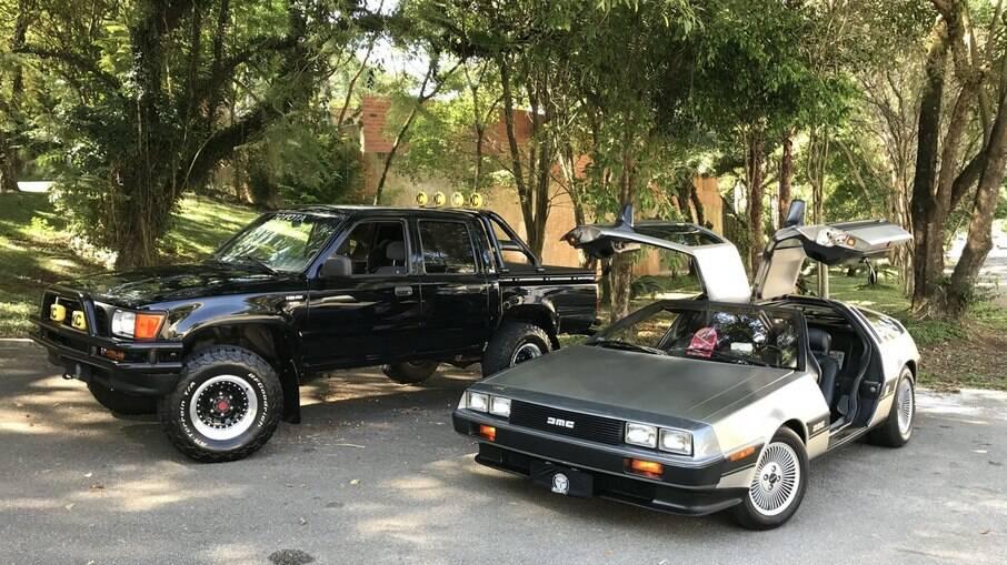 DeLorean DMC-12 e Toyota Hilux SR5 marcaram o primeiro filme da trilogia