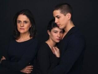 Marieta Severo interpreta uma árabe que migra para o Ocidente com o casal de filhos gêmeos