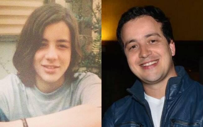 Rafael Cortez aos 15 anos e agora, aos 37