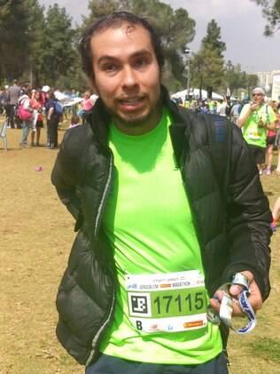 Ricardo Lomaski, brasileiro na prova de 10 km da Maratona de Jerusalém