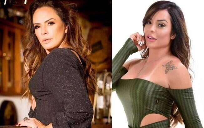 Núbia Ólliver e Denise Dias