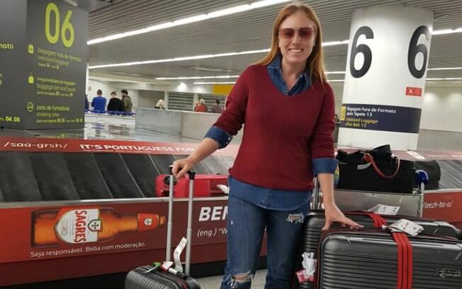 Com uma mala inteligente, Cacá viajou por quase 1 mês por 5 diferentes países, 2 continentes e apenas 26 quilos na mala