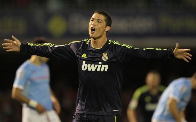Cristiano Ronaldo marcou os dois gols do Real  Madrid na vitória sobre o Celta de Vigo