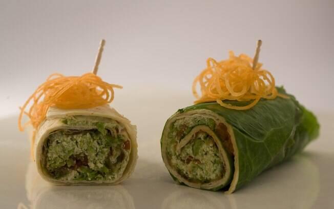 Foto da receita Wrap vegetariano pronta.