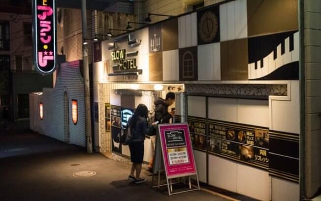 Um motel na área de Shibuya, em Tóquio
