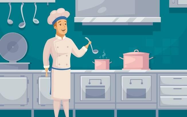A comida pode variar muito dependendo da nacionalidade do funcionário que está cozinhando