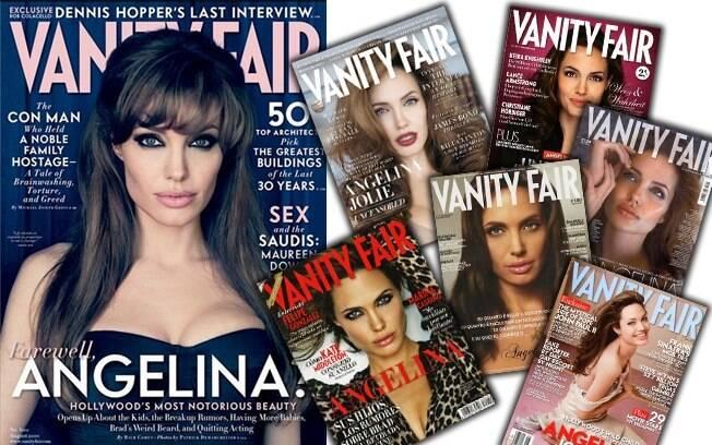 """Queridinha da """"Vanity Fair"""", Angelina Jolie já estampou varias capas de outras edições da revista"""