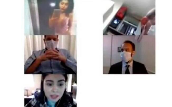 Imagens do vídeo da audiência de Mari Ferrer divulgado pelo The Intercept