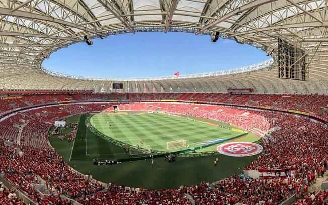 Estádio Beira-Rio ficará iluminado na noite desta sexta-feira (28) com as cores do arco-íris