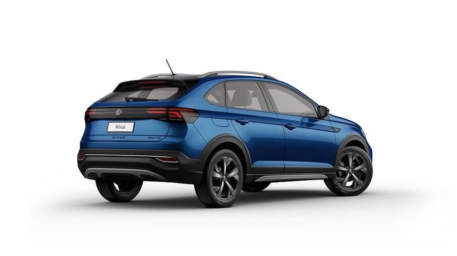 VW Nivus também conta com a inclusão da cor metálica Azul Biscay entre as mudanças na linha 2022