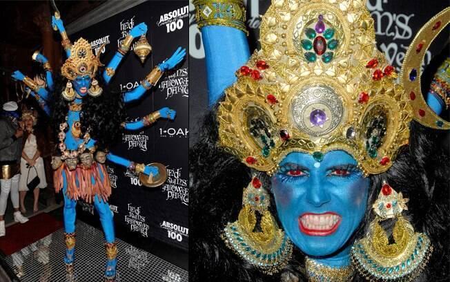Heidi Klum em 2008: deusa indiana