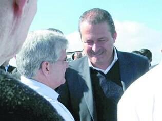 Festa. Em Franca (SP), Eduardo Campos foi recebido por correligionários em clima de campanha