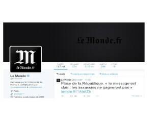 A partir desta quarta à tarde, as contas no Twitter, Facebook e as páginas na Internet de diferentes veículos de comunicação franceses passaram a exibir uma fita preta, em sinal de luto