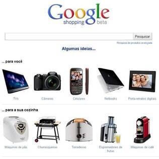 Google Shopping, serviço de busca de produtos, ganha versão em português