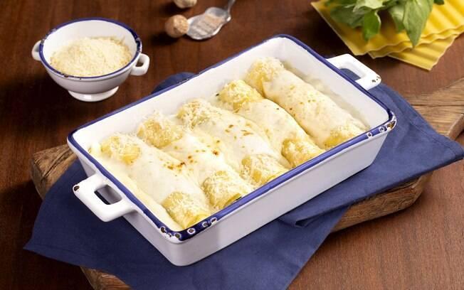 Rendendo até 8 porções, o canelone de ricota pode ficar pronto em até 30 minutos