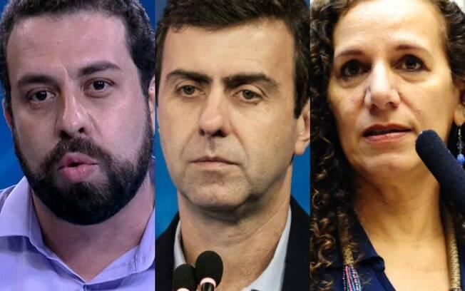 Guilherme Boulos, Marcelo Freixo e Jandira Fehgali