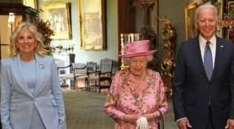 Rainha Elizabeth II recebe presidente Joe Biden e primeira-dama
