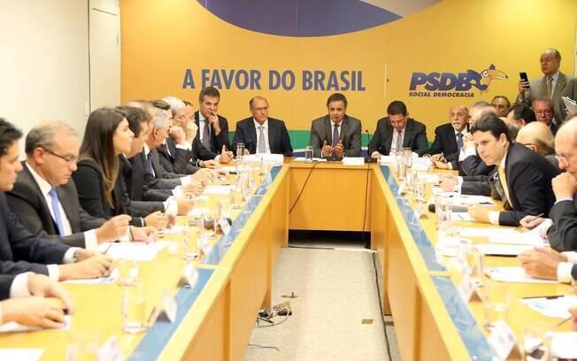 Reunião da Executiva Nacional do PSDB realizada em Brasília, na manhã desta terça-feira (3)