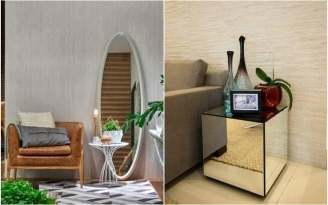 O espelho pode ser realmente integrado como um item de decoração da casa