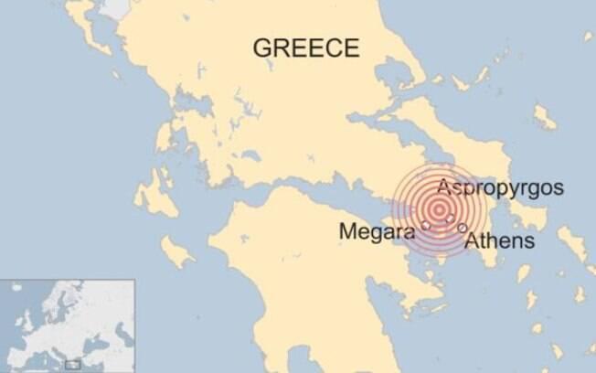 O terremoto foi a cerca de 13 km da superfície
