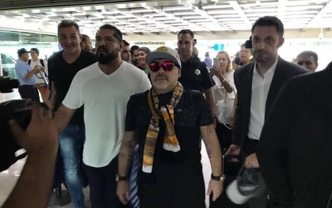 Diego Maradona atualmente trabalha no futebol do México como treinador do Dorados