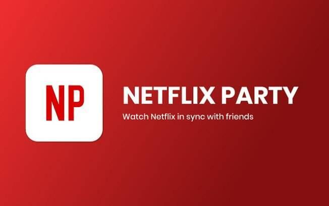 A extensão abre um grupo de chat e sincroniza as telas para assistir filmes e séries remotamente