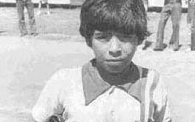 O jovem Diego Armando Maradona, então um  argentino desconhecido