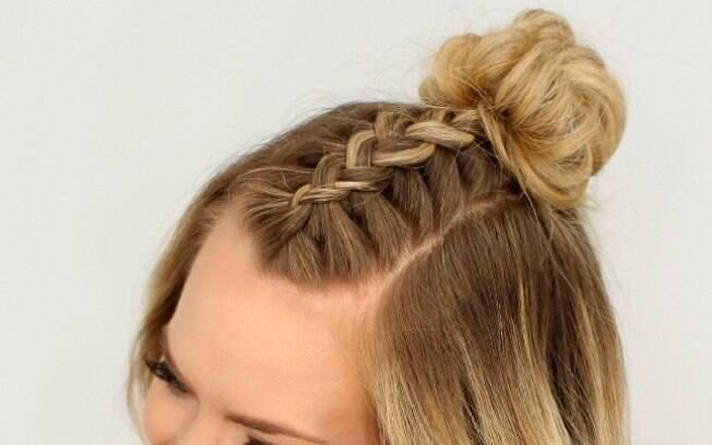 Você também pode incrementar o penteado com uma trança
