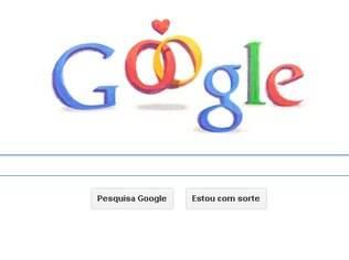Logotipo do Google faz referência ao dia dos namorados