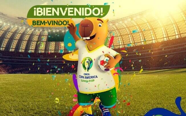 Conmebol divulgou que o mascote da Copa América do Brasil será uma capivara