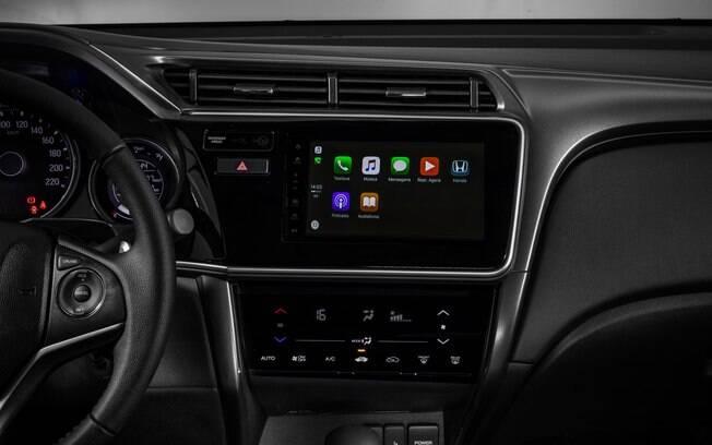 Honda City 2019 e a nova central multimídia agora também disponível na versão EX do sedã compacto