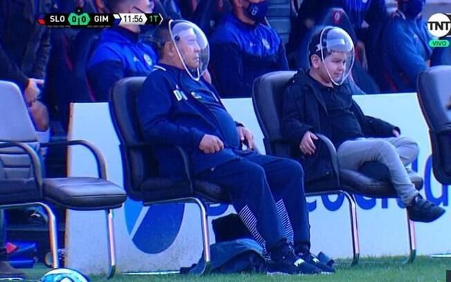 Maradona e filho
