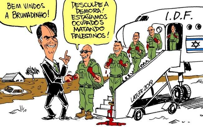 Charge do cartunista Carlos Latuff sobre o resgate em Brumadinho
