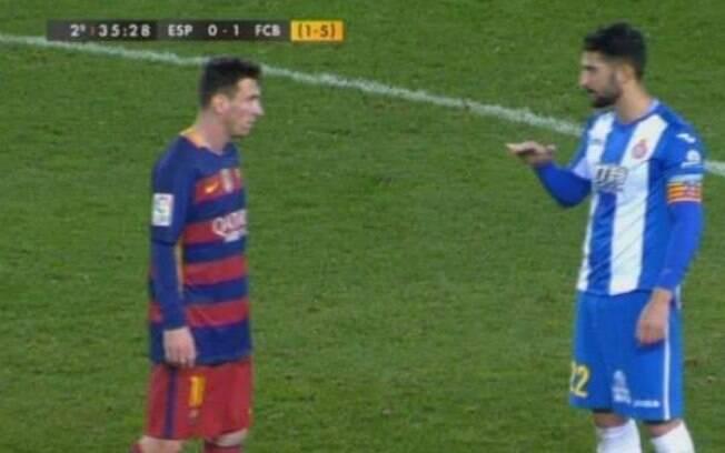 Messi e Álvaro González já se desentenderam em campo