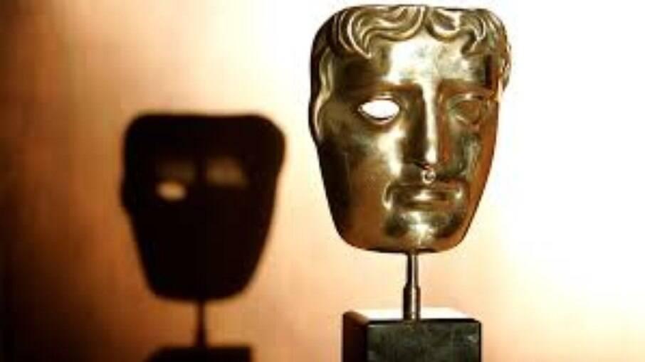 O troféu do prêmio britânico, BAFTA
