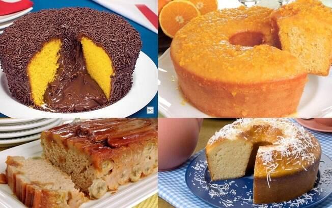 6 receitas de bolo para um café da tarde especial
