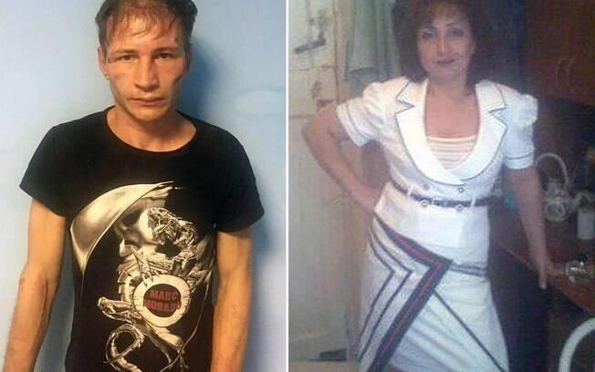 Dmitry Baksheev e sua mulher Natalia foram detidos sob a suspeita de canibalismo na Rússia