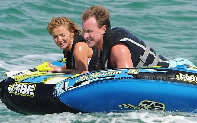Geri Halliwell e o ex-namorado, em uma viagem de férias pela Itália