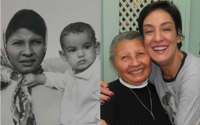 Raimunda segura Ana, aos 8 meses, no colo; hoje, 45 anos depois, elas seguem juntas